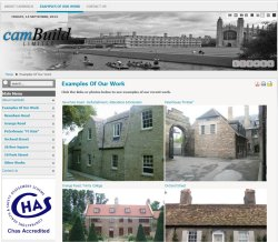 Website for local specialist building company
